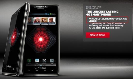 DROID RAZR MAXX launching on January 26th, says Motorola ...