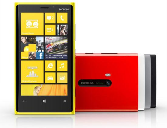 Nokia Lumia 920 official colors