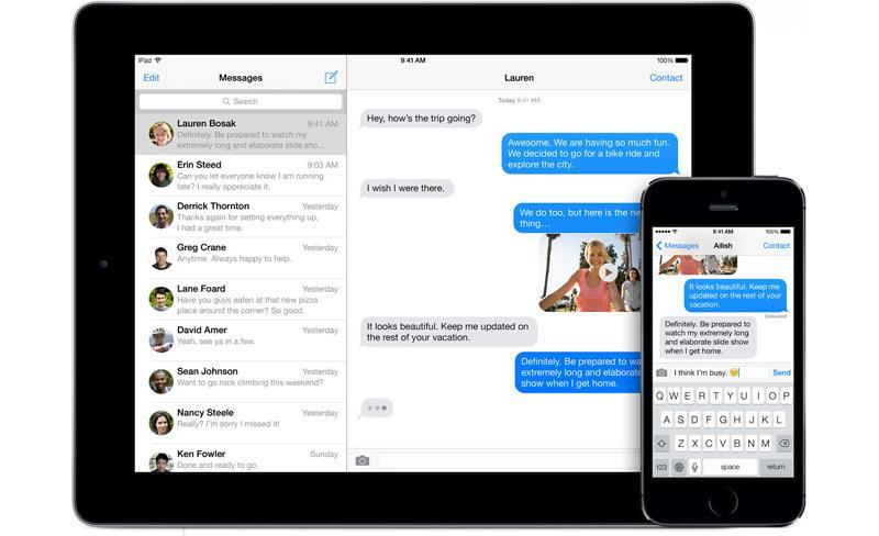 iOS 7 iMessages
