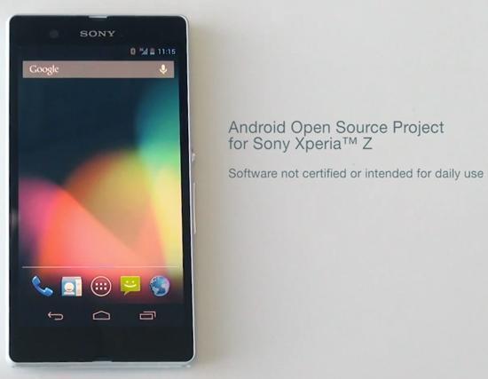 Sony kicks off Xperia Z AOSP program, releases binaries ...
