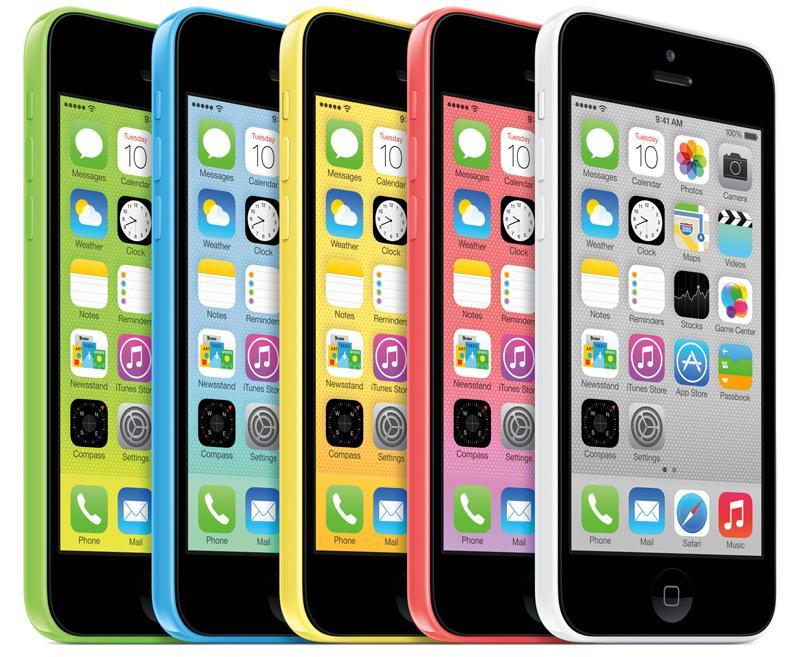 Apple iPhone 5C colors official