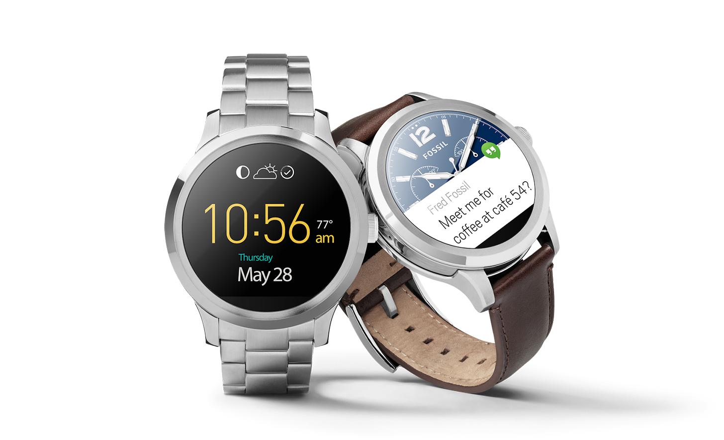 google now selling fossil q founder smartwatch phonedog. Black Bedroom Furniture Sets. Home Design Ideas