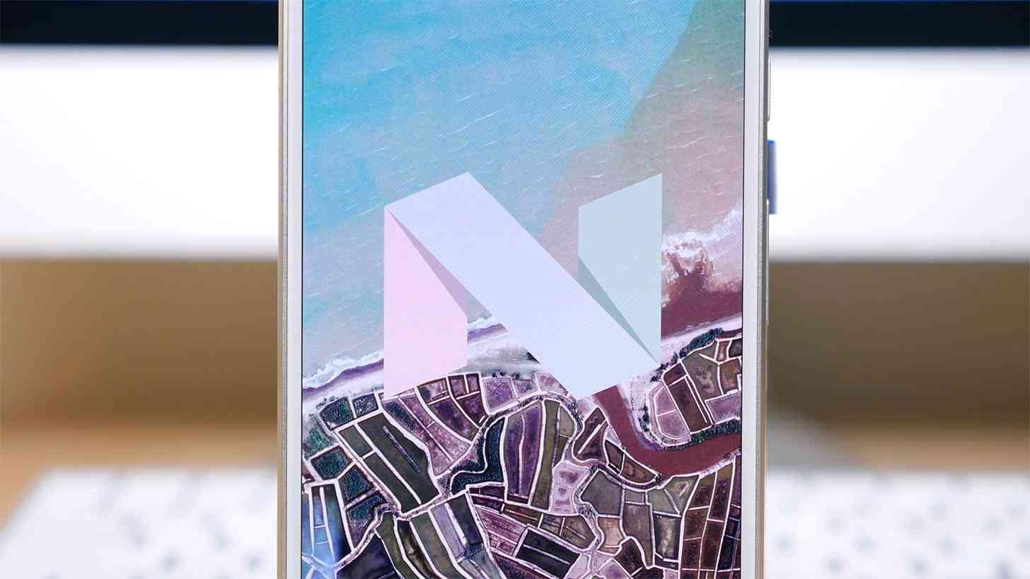 Android Nougat logo Google Pixel XL
