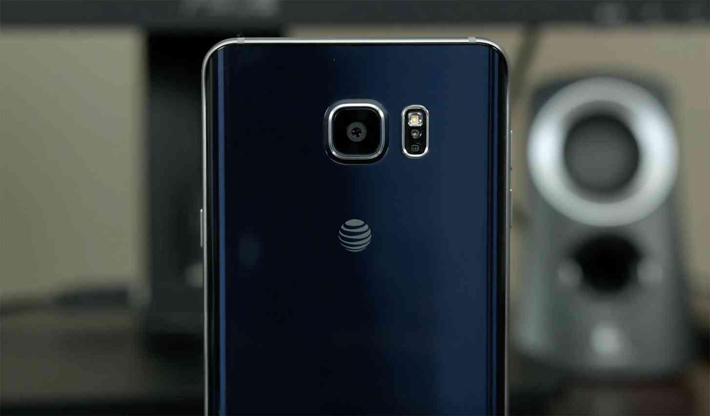 AT&T logo Galaxy Note 5