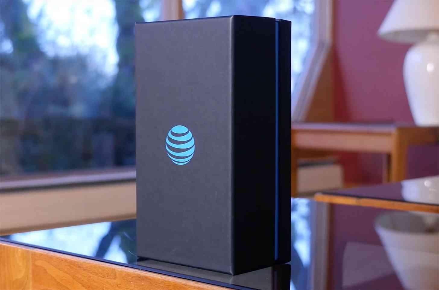 AT&T globe logo packaging