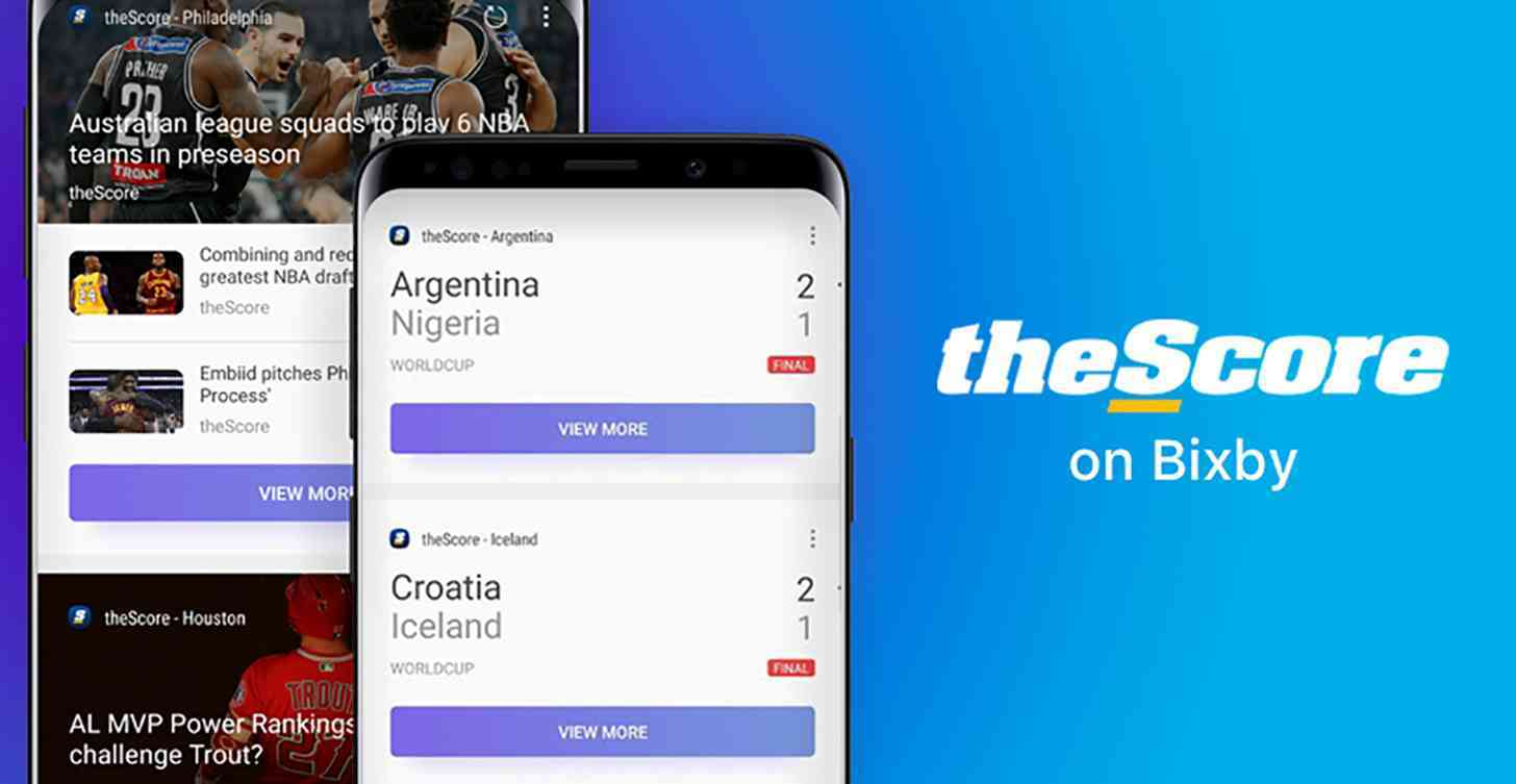Samsung Bixby and theScore