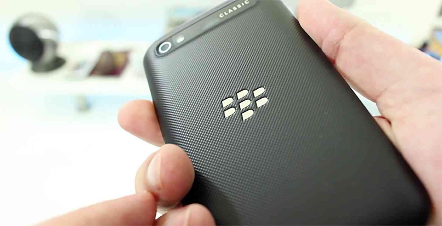 BlackBerry logo Classic rear