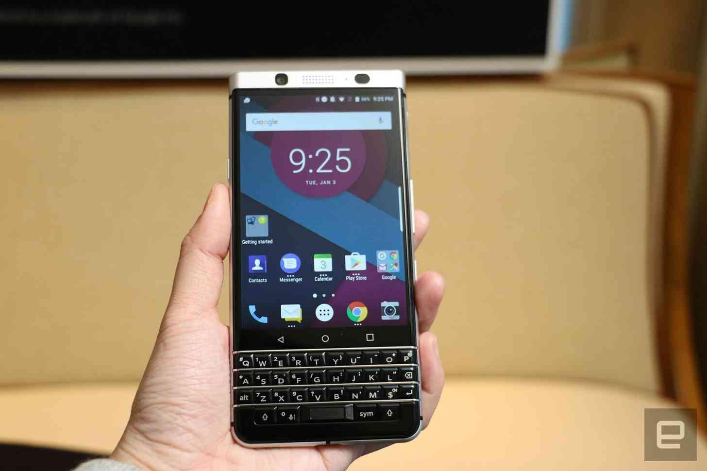 BlackBerry Mercury front physical keyboard