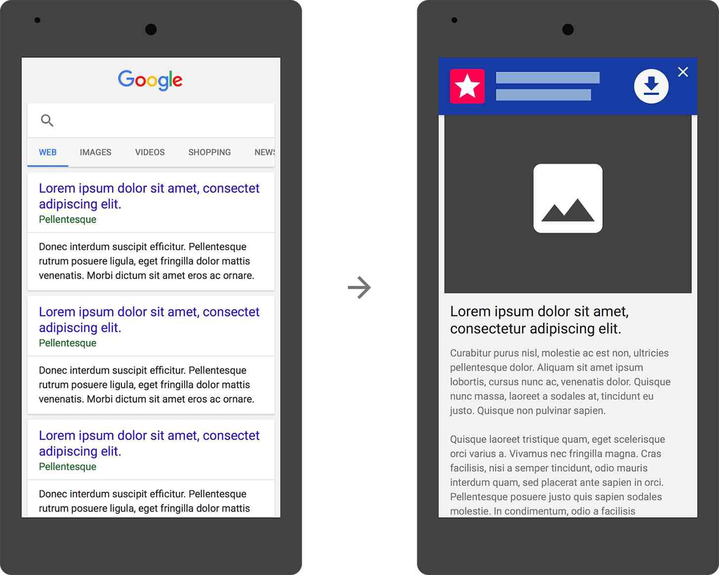 Google starts targeting huge app install ads on mobile sites