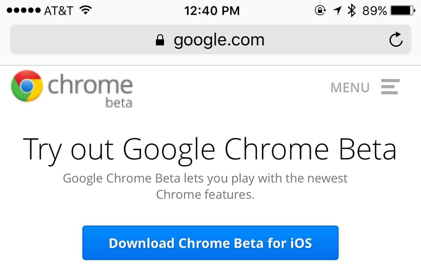 Google releases Chrome beta app for iOS | PhoneDog