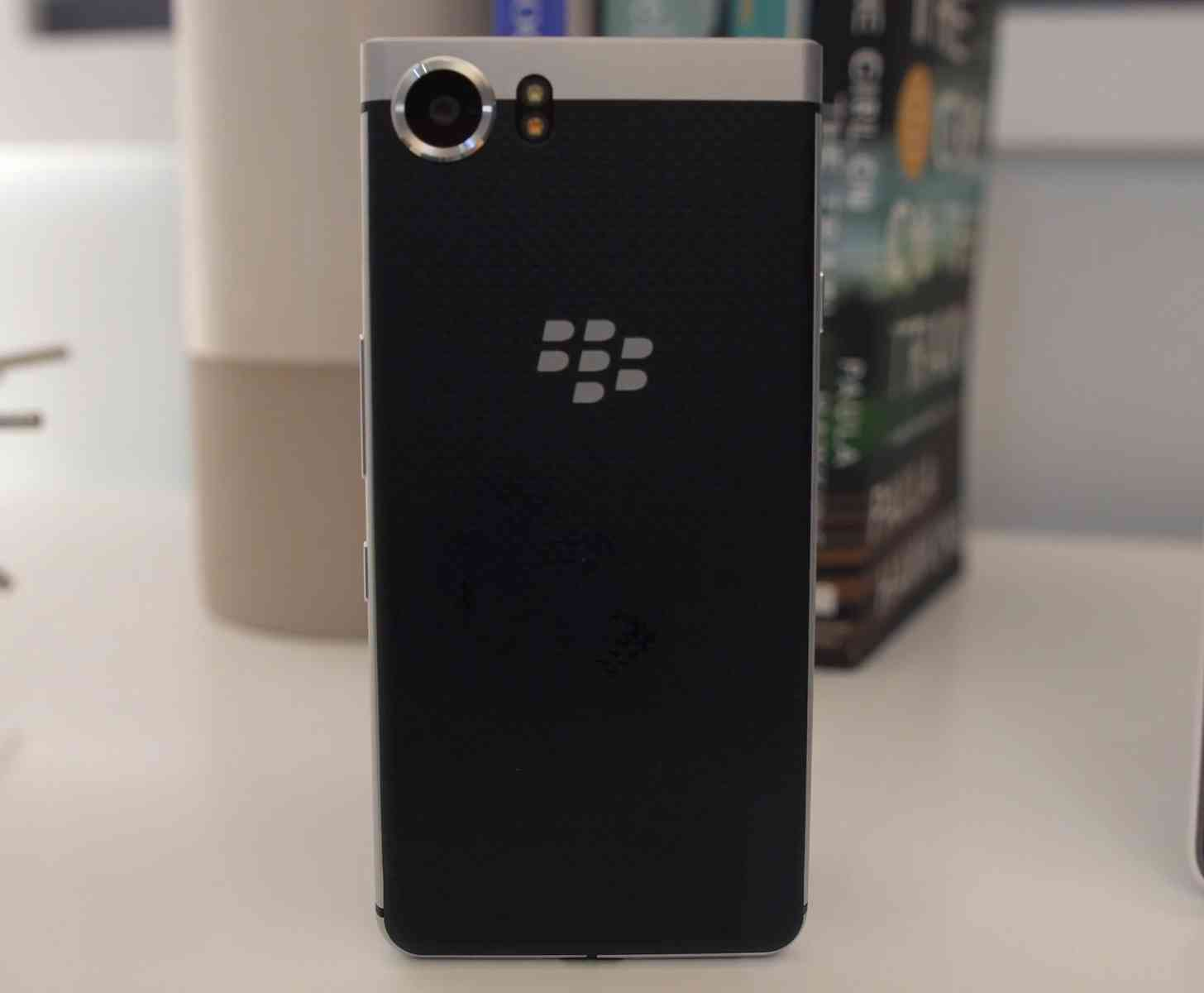 BlackBerry KeyOne hands-on soft touch rear