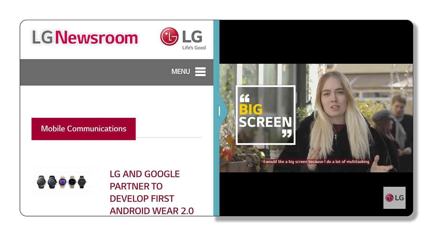 LG G6 UX 6.0 screenshot multitasking