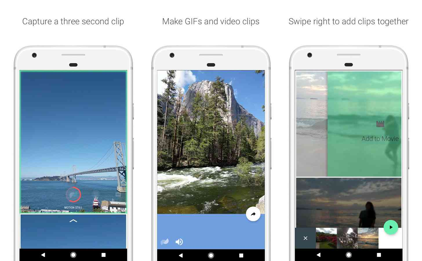 Google Motion Stills Android app features
