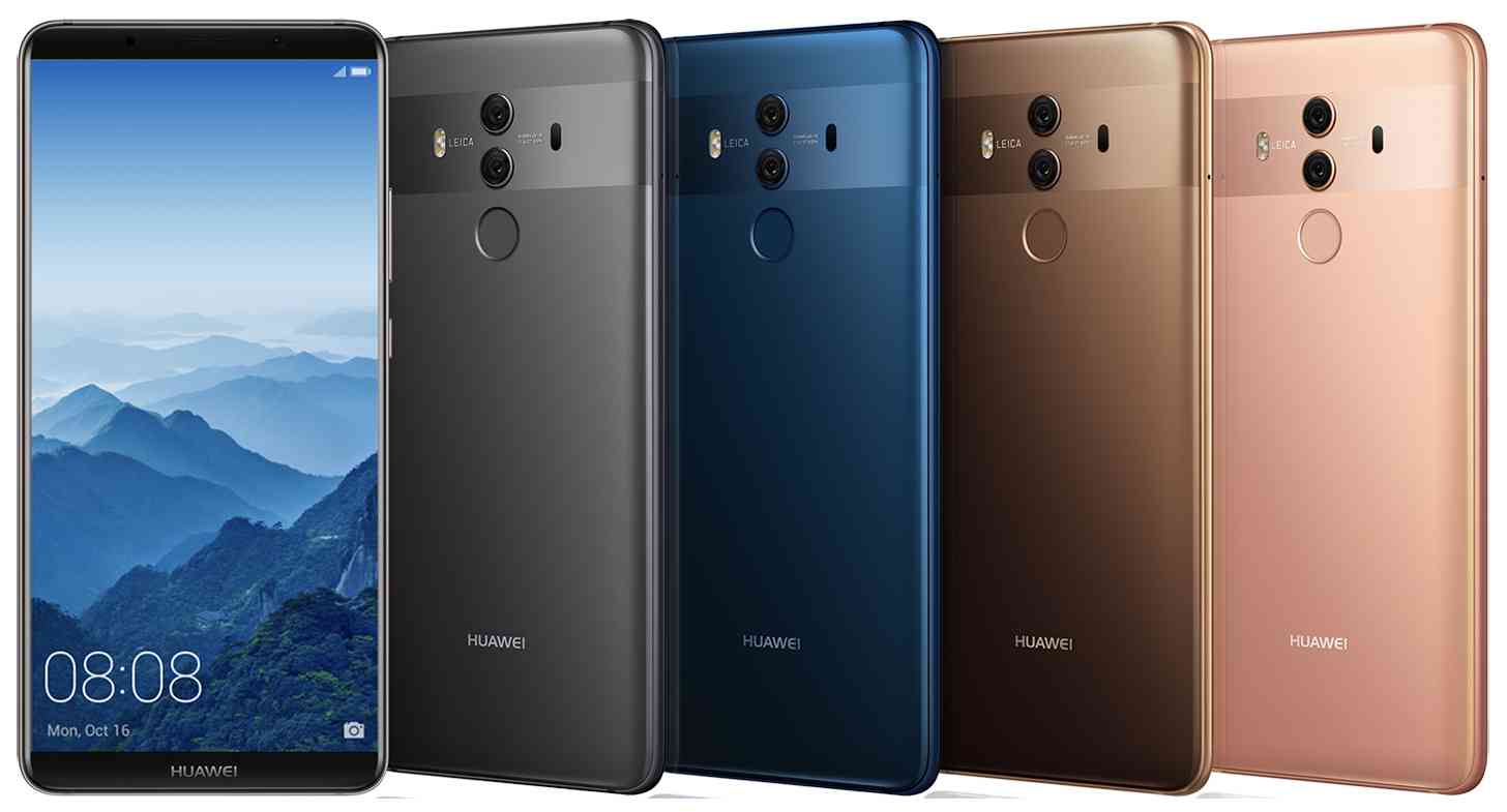 Huawei Mate 10 Pro official colors