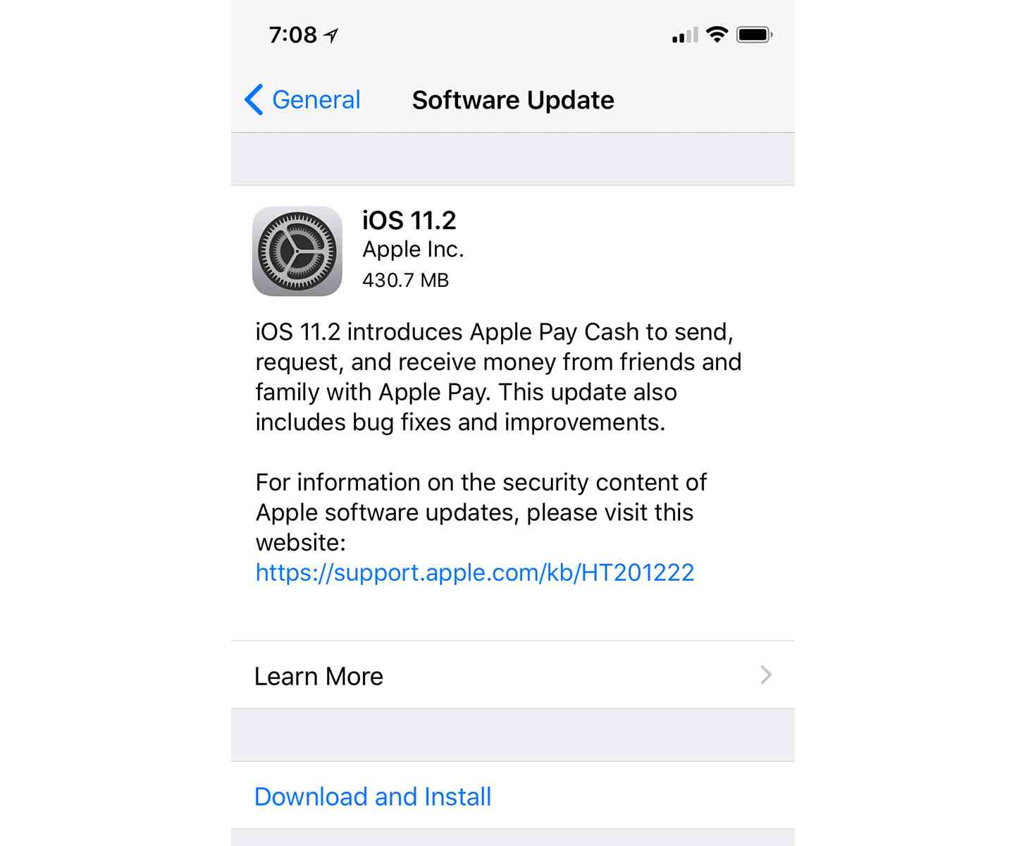 Apple releases iOS 11.2 update with faster wireless ...