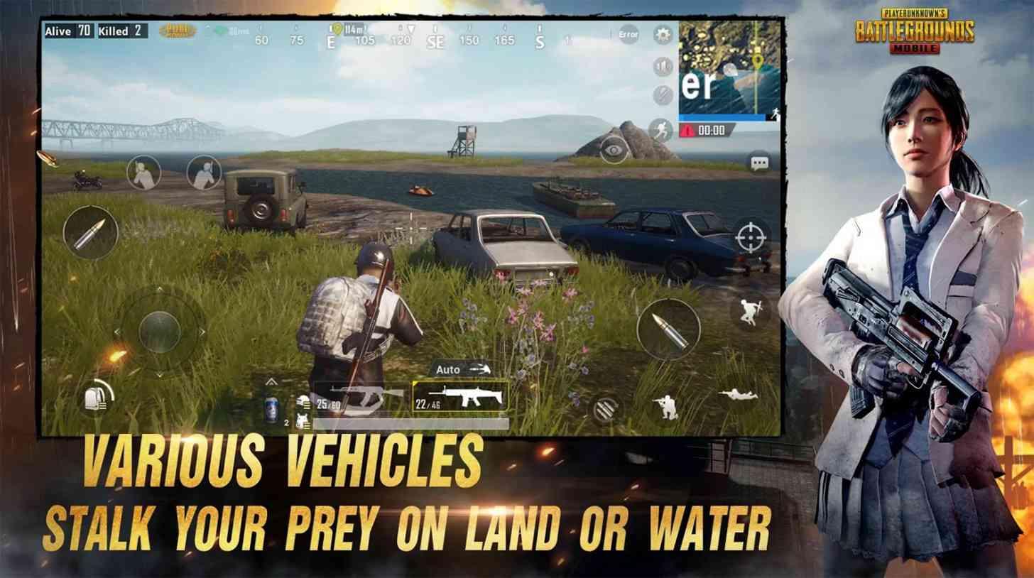 PUBG Mobile vehicles
