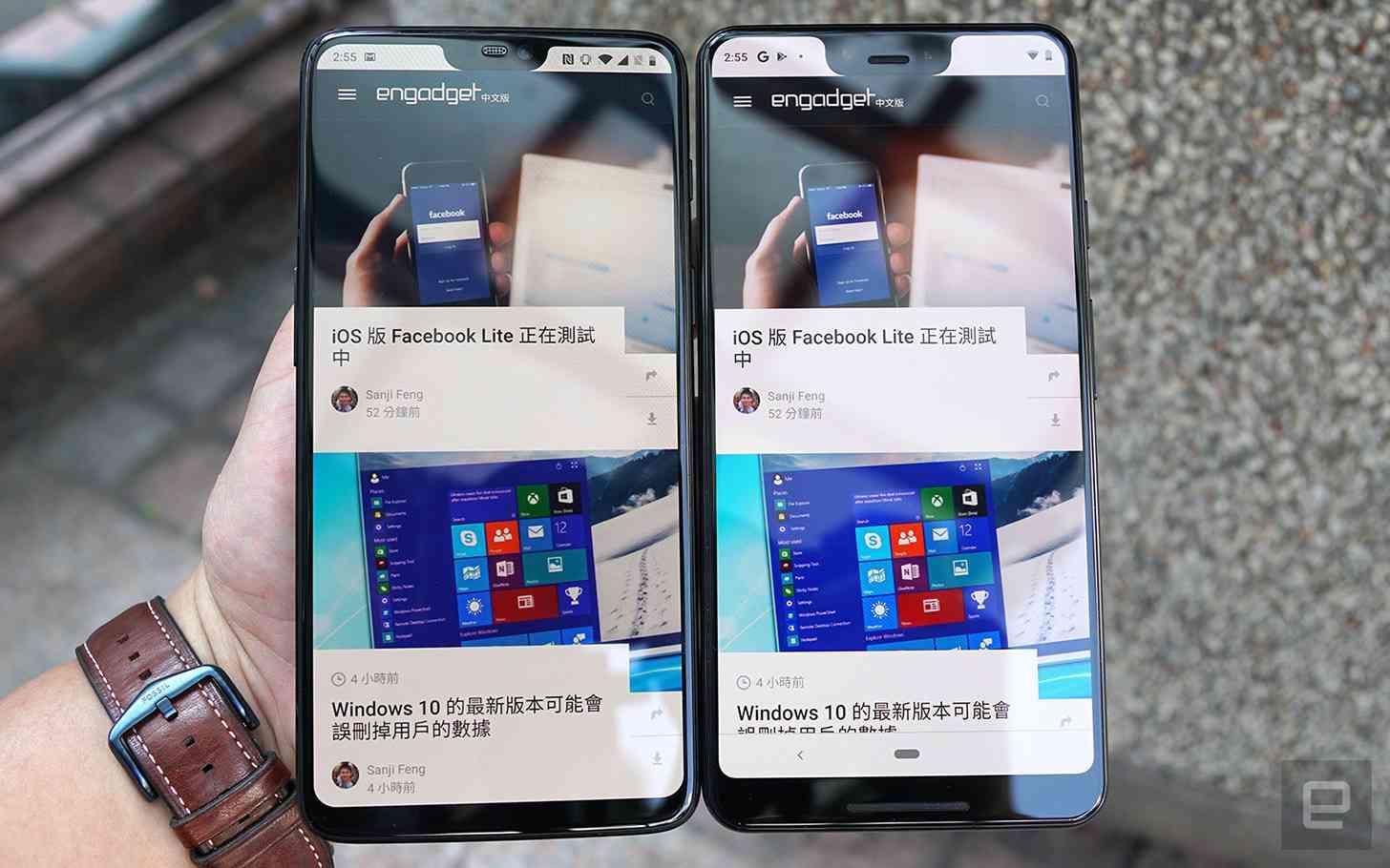 Google Pixel 3 XL OnePlus 6 comparison