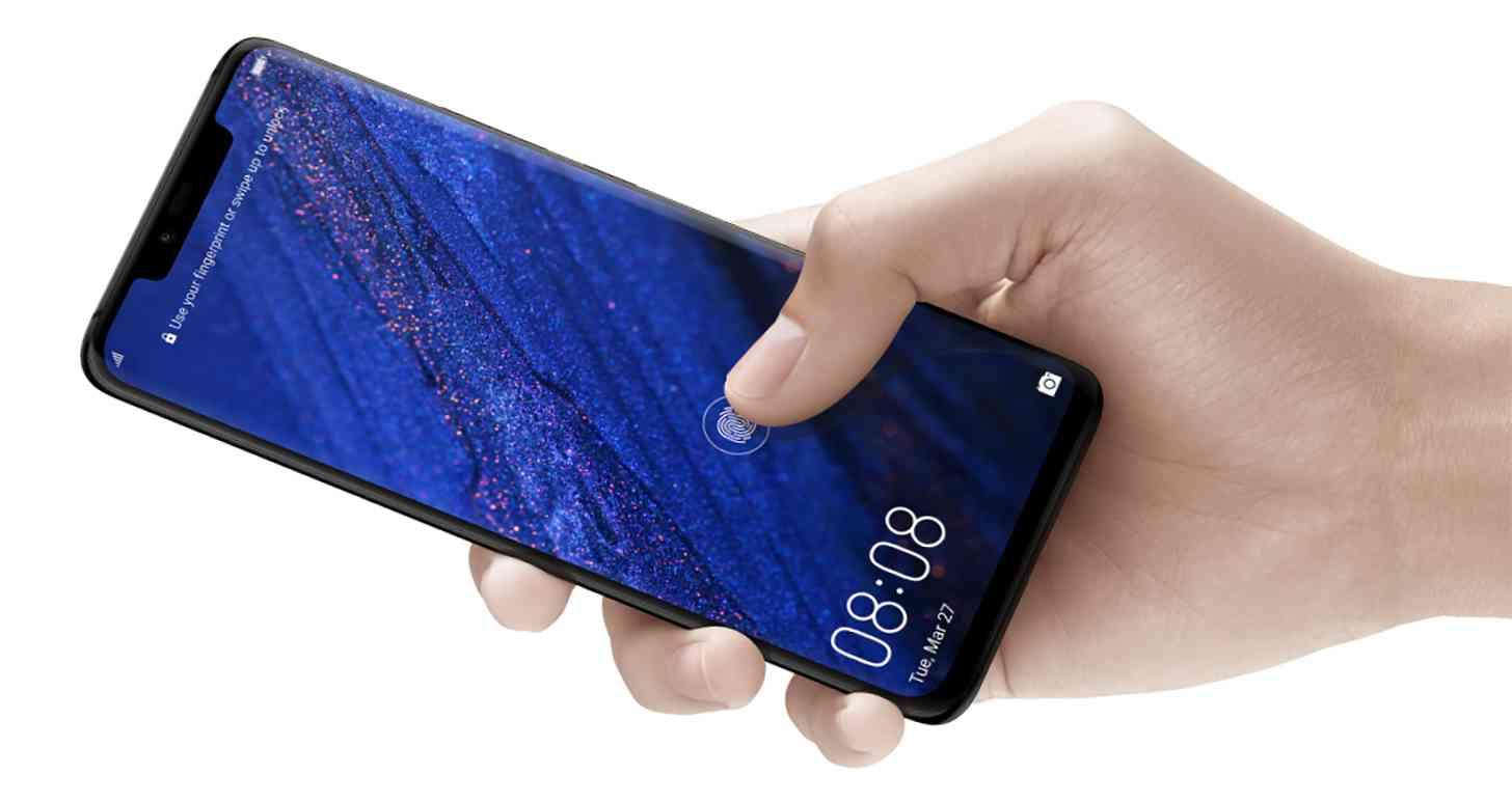 Huawei Mate 20 Pro in-display fingerprint sensor