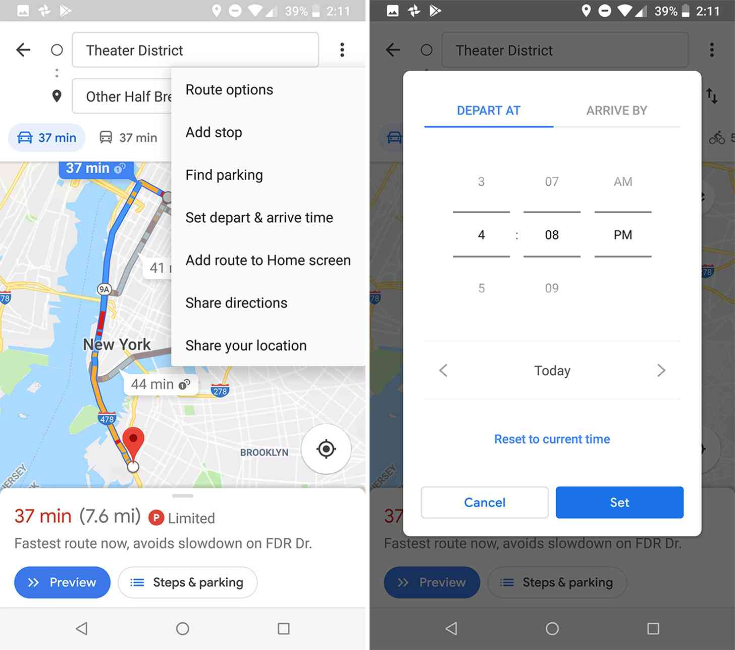 Google Maps For Android Will Now Let You Set Arrival And Departure