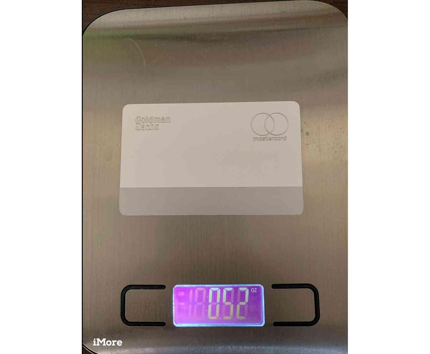 Apple Card rear titanium weight