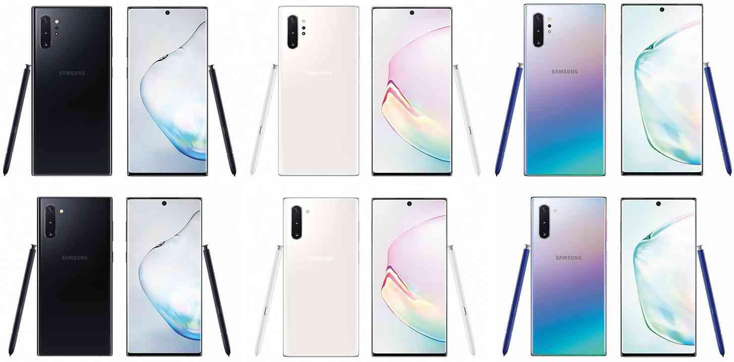 Samsung Galaxy Note 10 colors