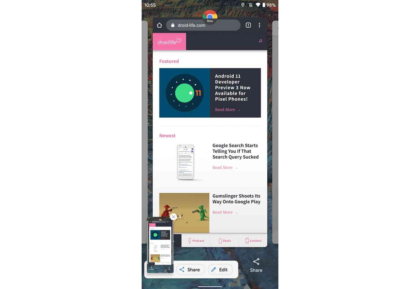 Android 11 new screenshot UI