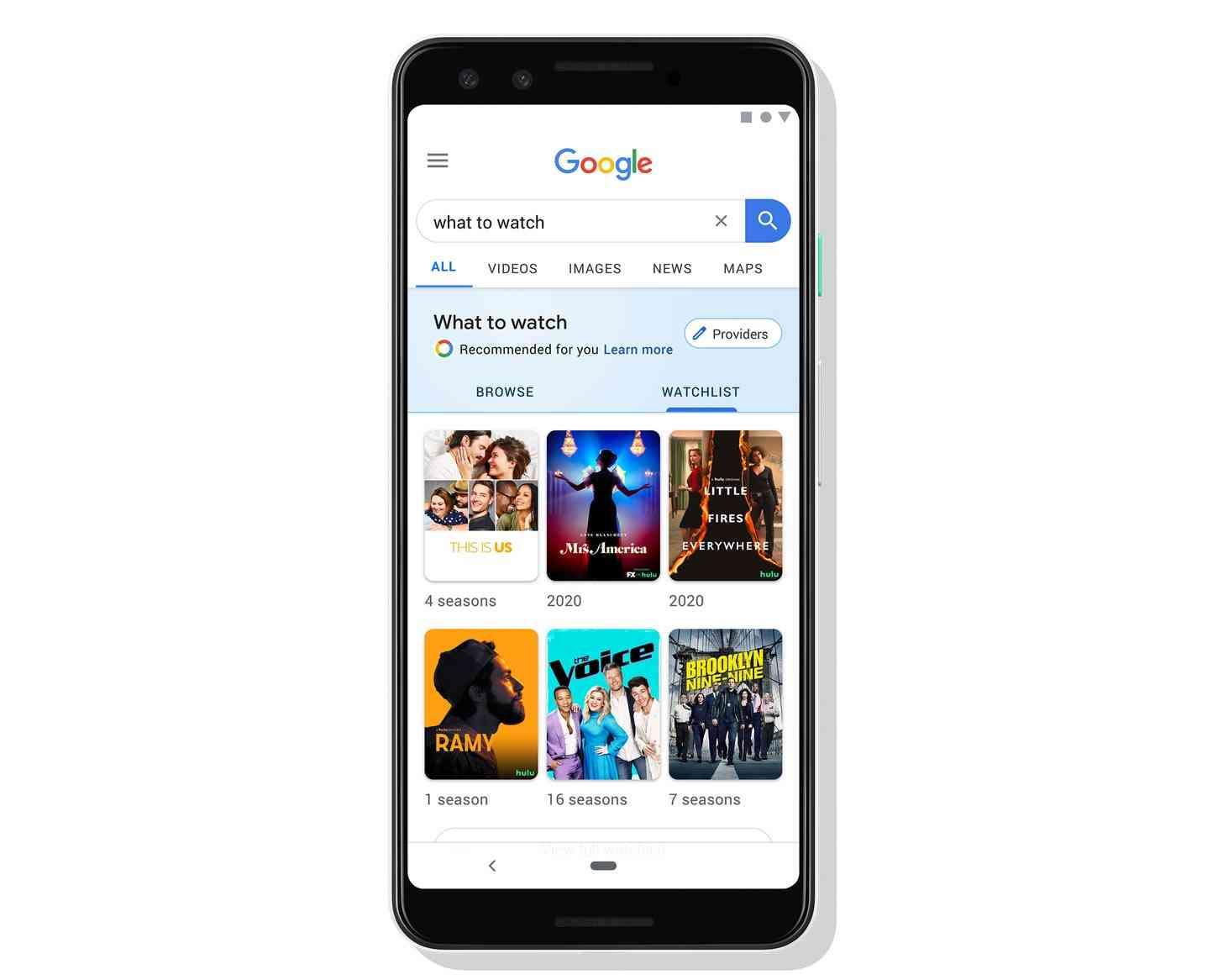 Google Search watchlist