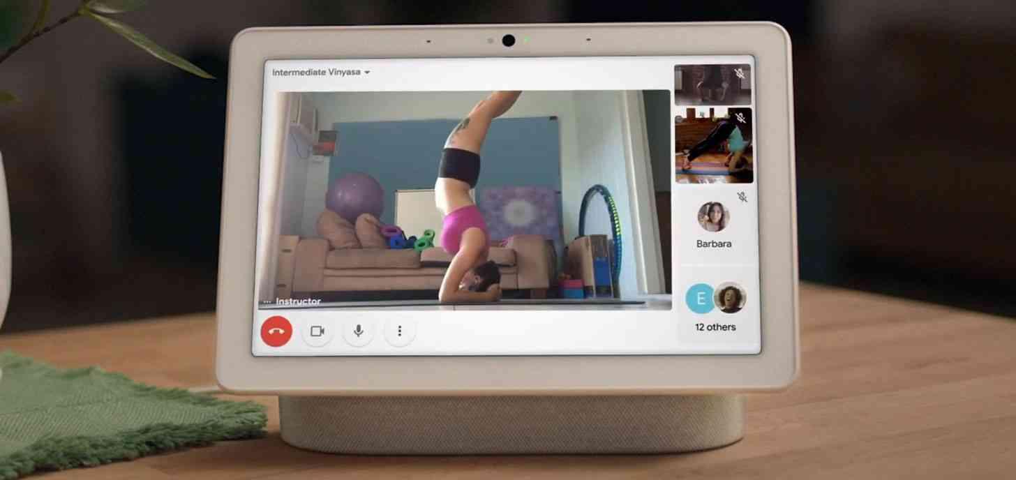 Google Meet group video call Nest Hub Max