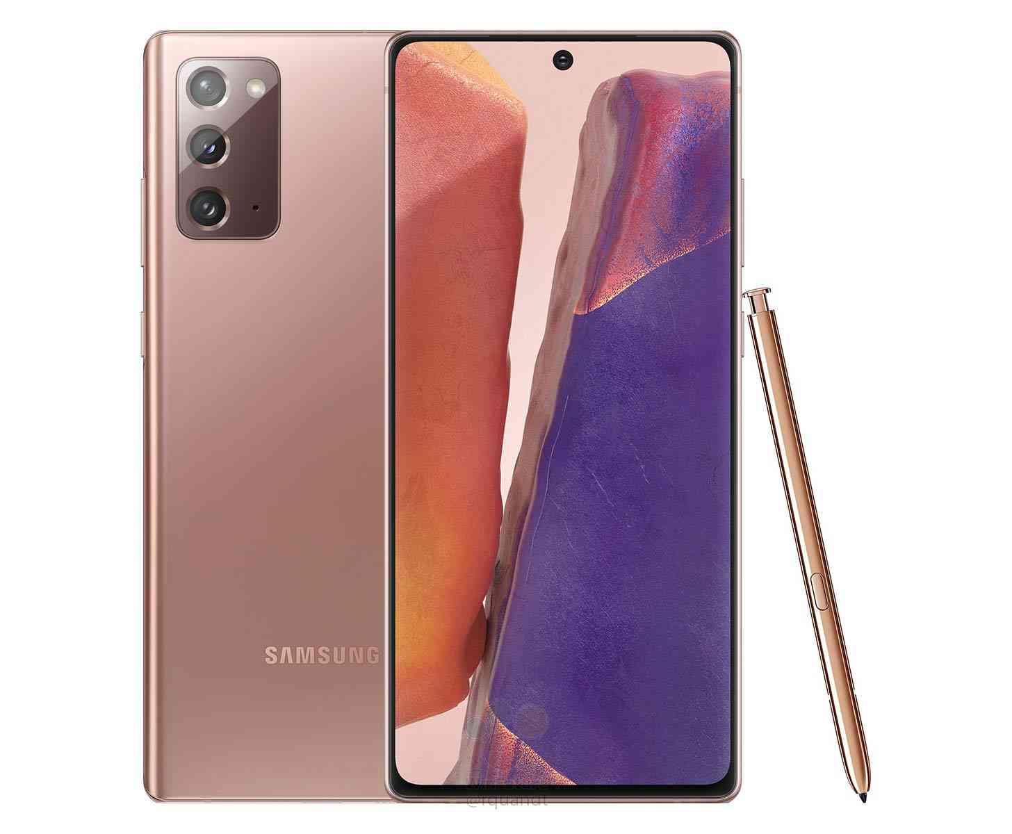 Samsung Galaxy Note 20 bronze leak