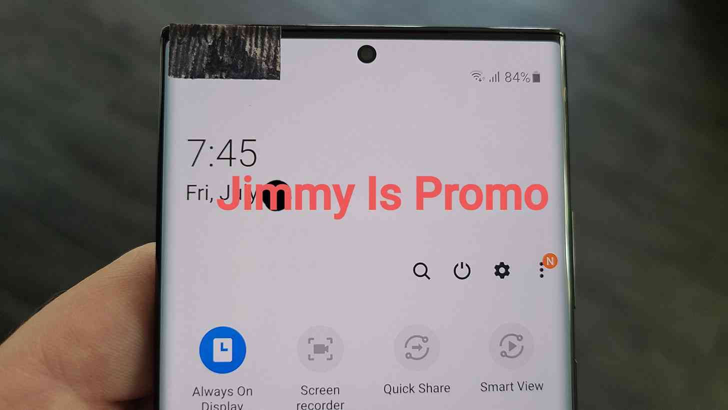 Galaxy Note 20 Ultra display