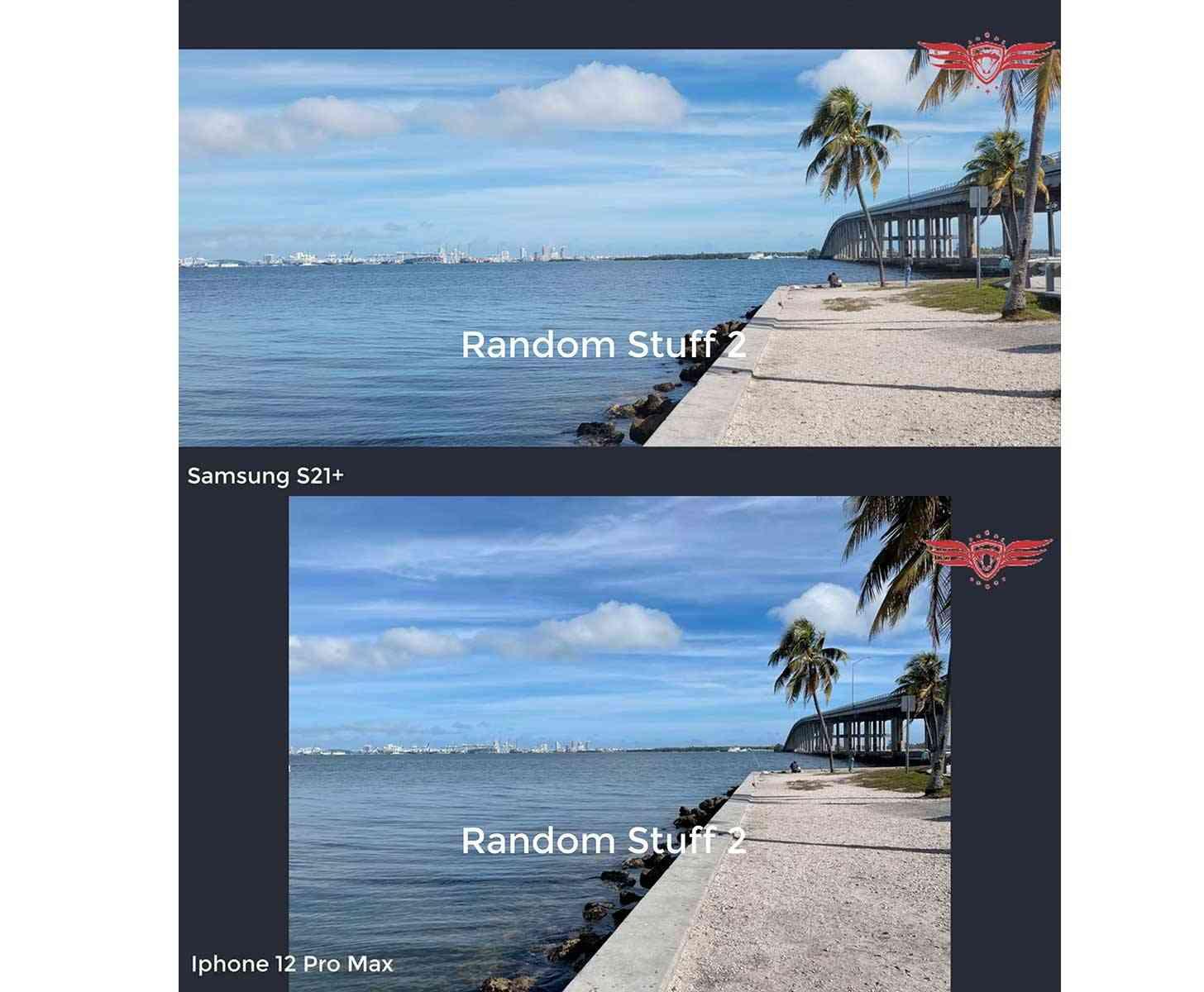 Samsung Galaxy S21+, iPhone 12 Pro Max photo comparison