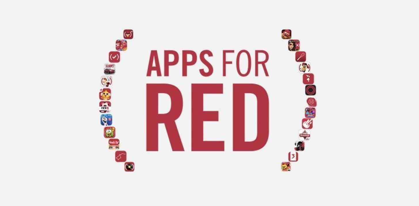Apple Apps for (RED) logo