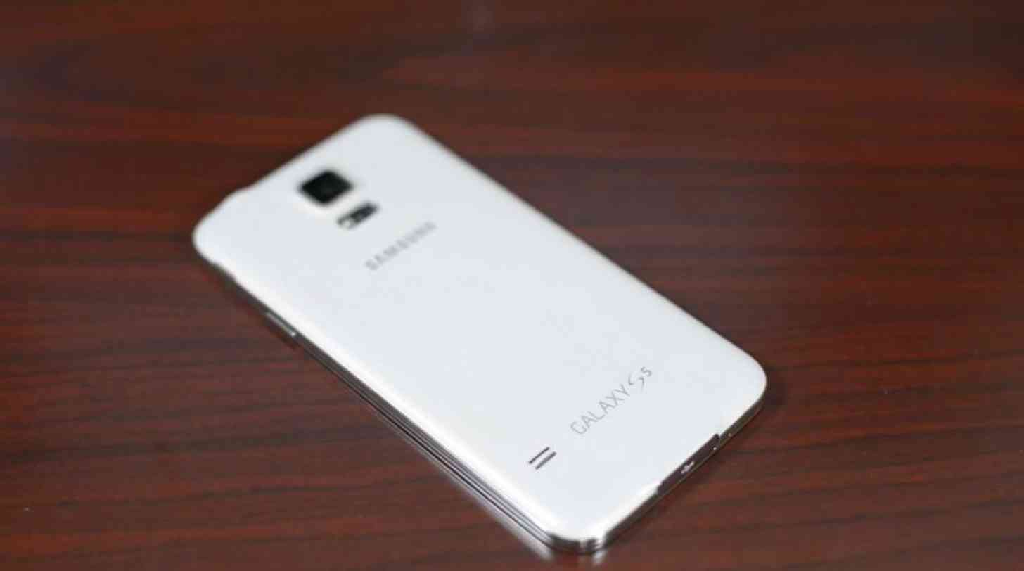 Samsung Galaxy S5 white rear