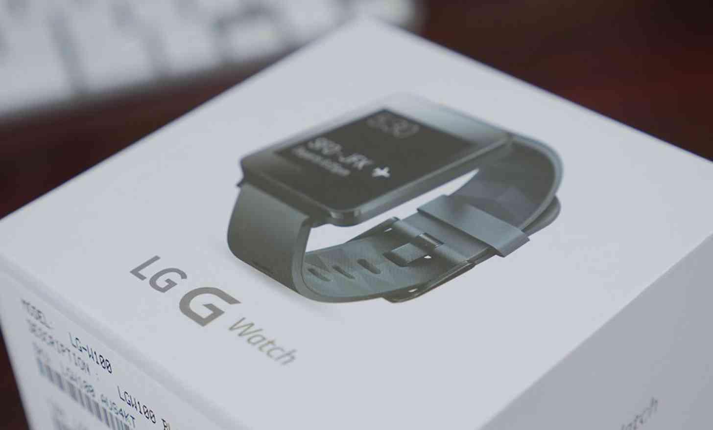 LG G Watch packaging