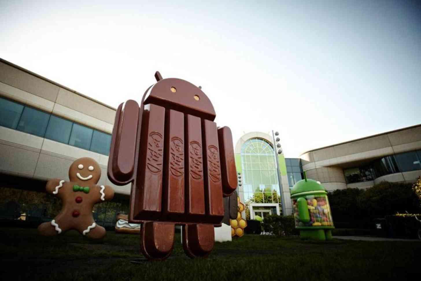 Android 4.4 KitKat Google statue