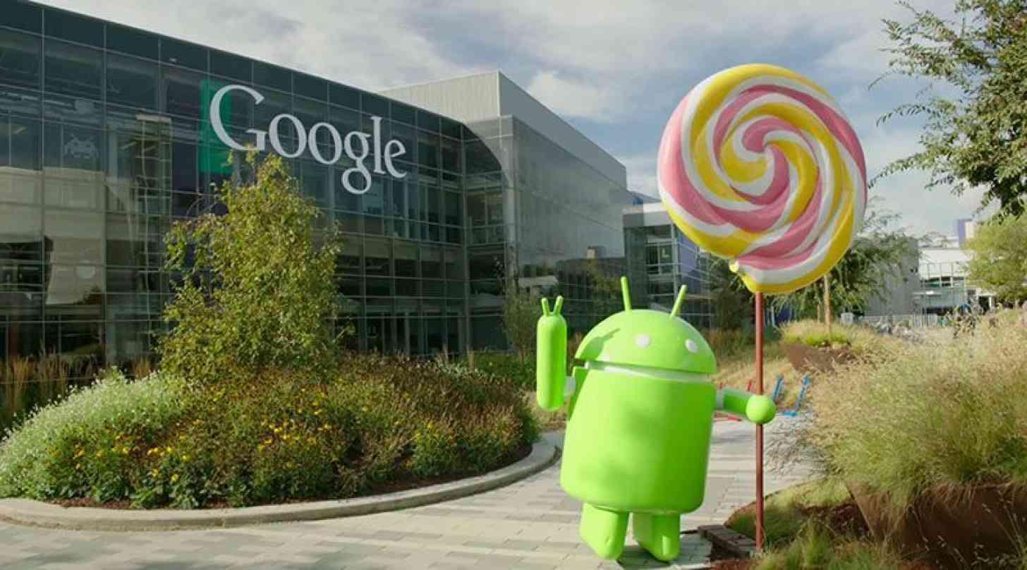 Android 5.0 Lollipop statue Google campus