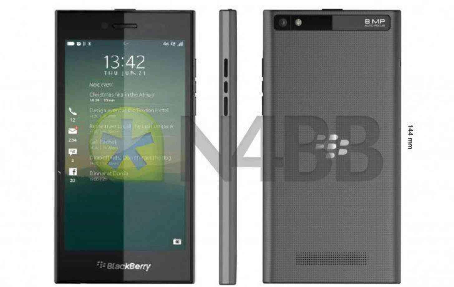 BlackBerry Rio Z20 black leak