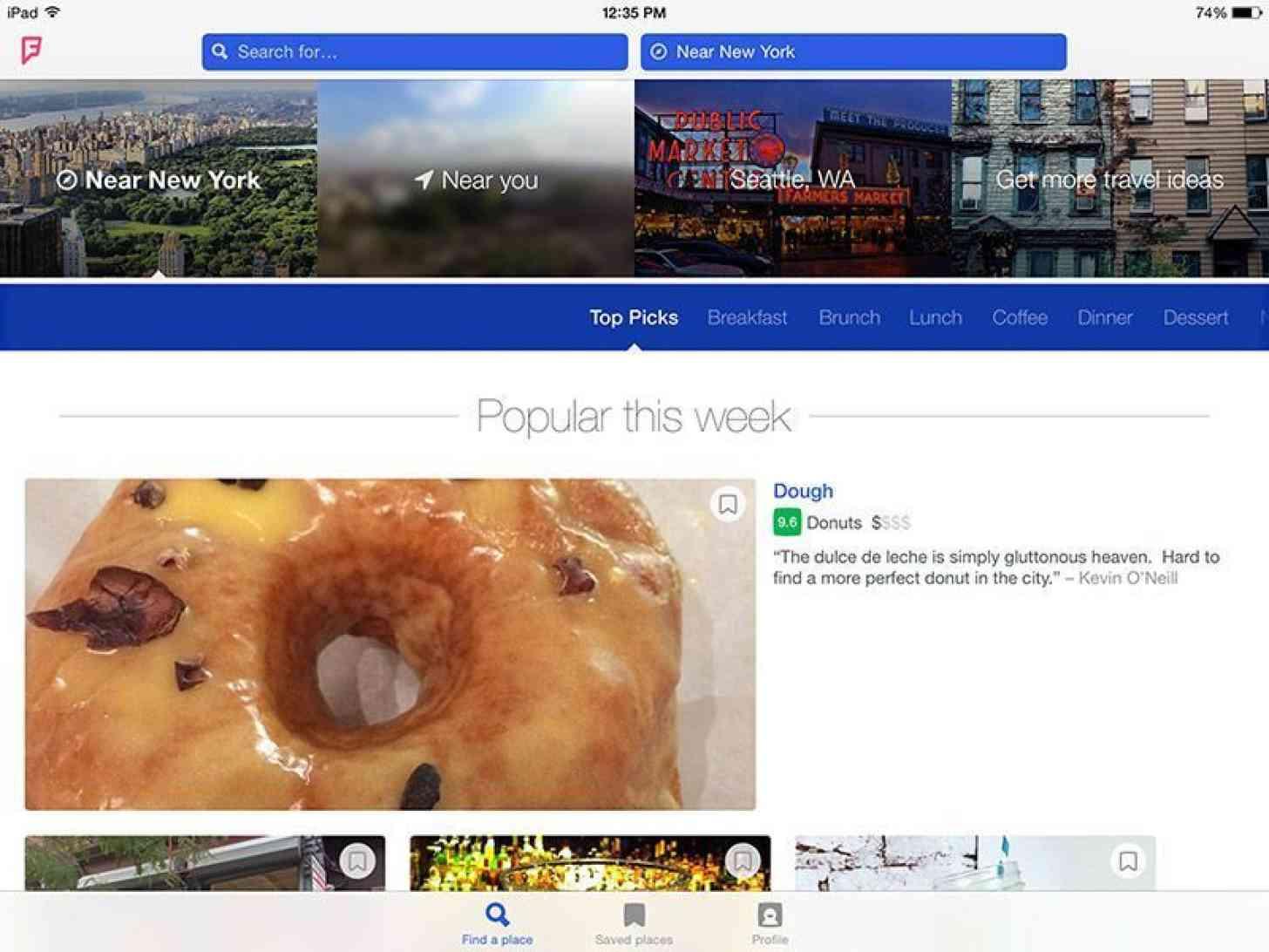 Foursquare for iPad