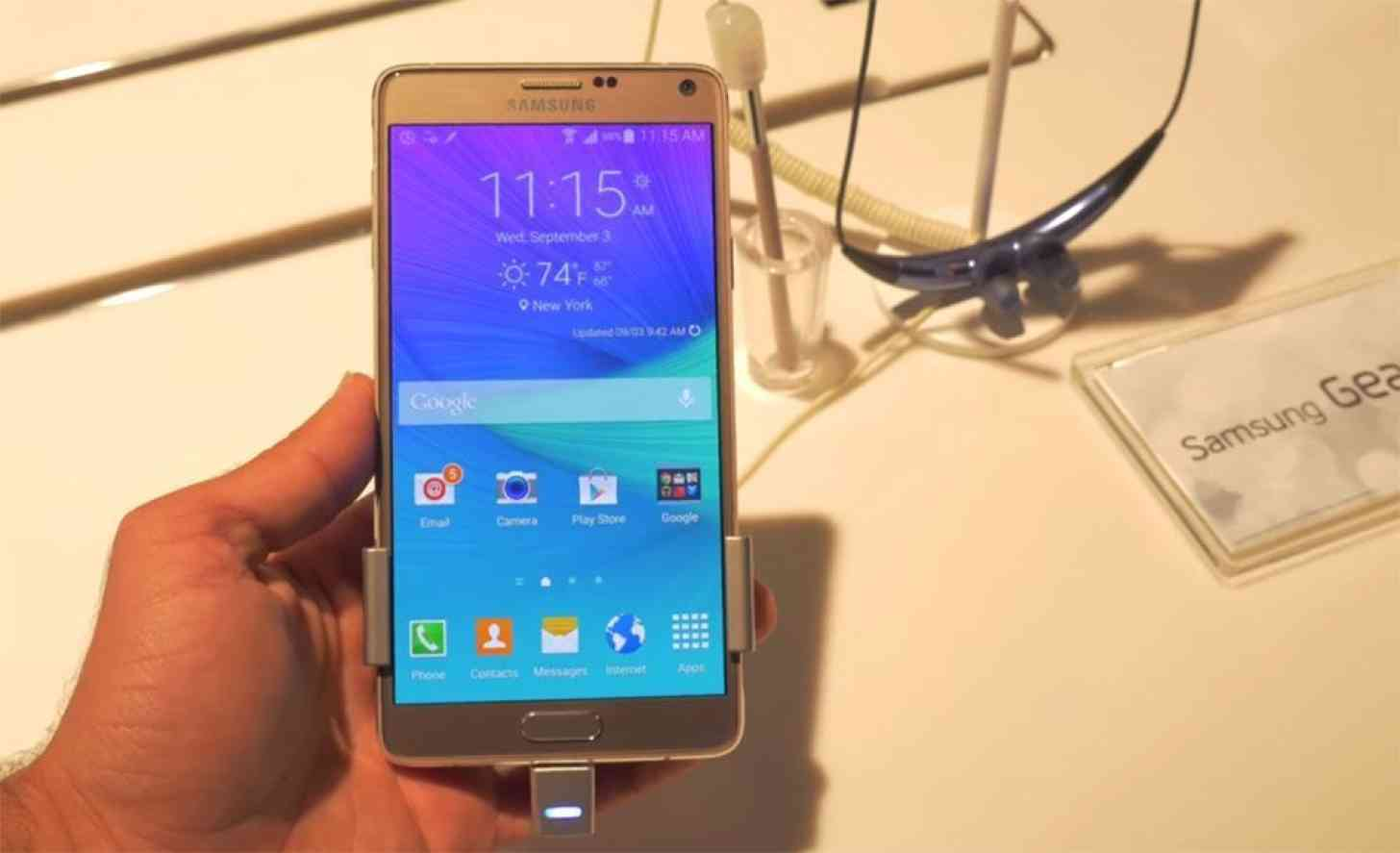 Samsung Galaxy Note 4 hands on video
