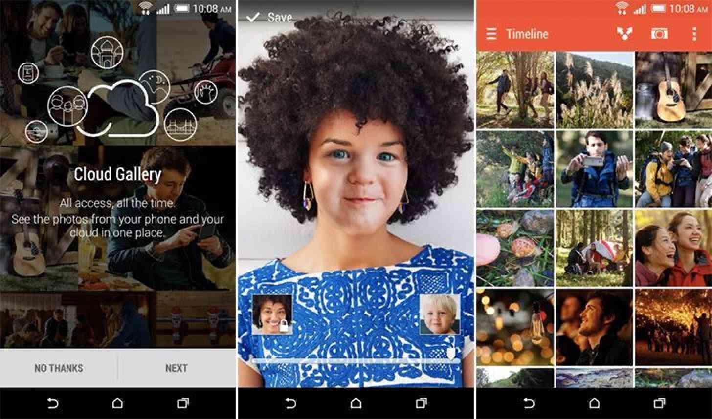 HTC Gallery app screenshots