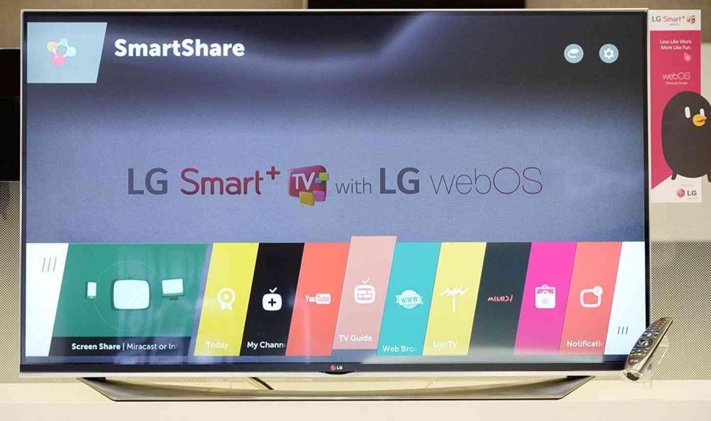 LG webOS 2.0 TV software