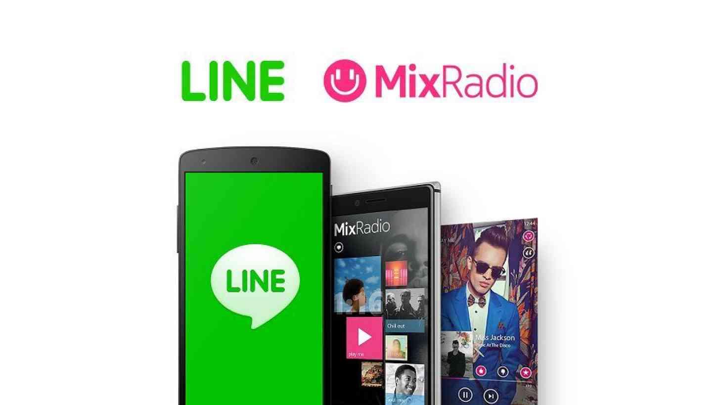 Line MixRadio Microsoft sale