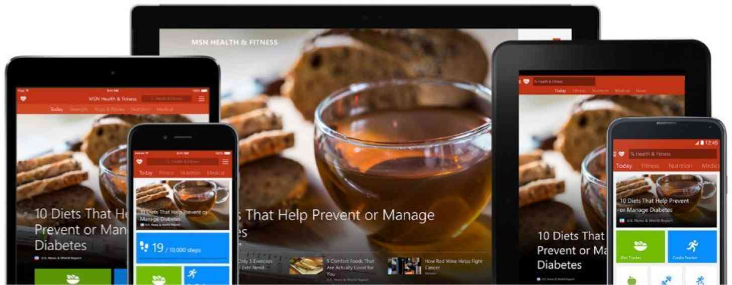 Microsoft MSN apps Android, iOS