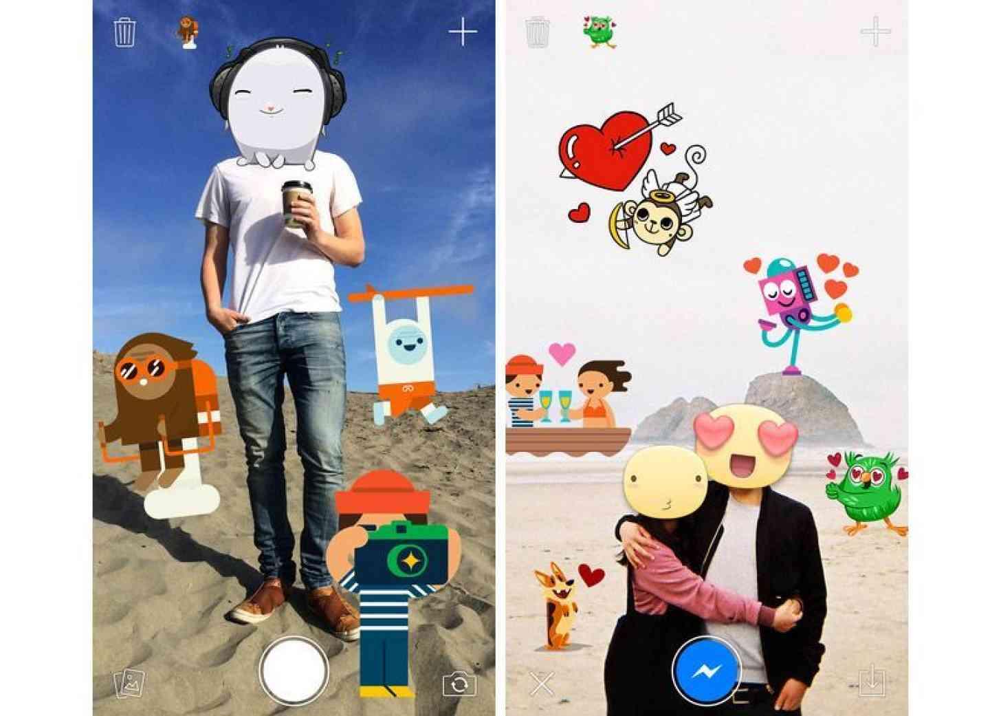 Stickered for Messenger iOS Facebook screenshots