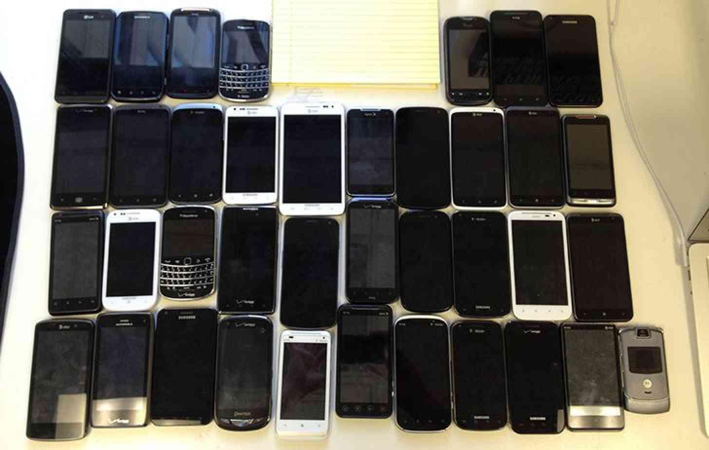 Lots of smartphones