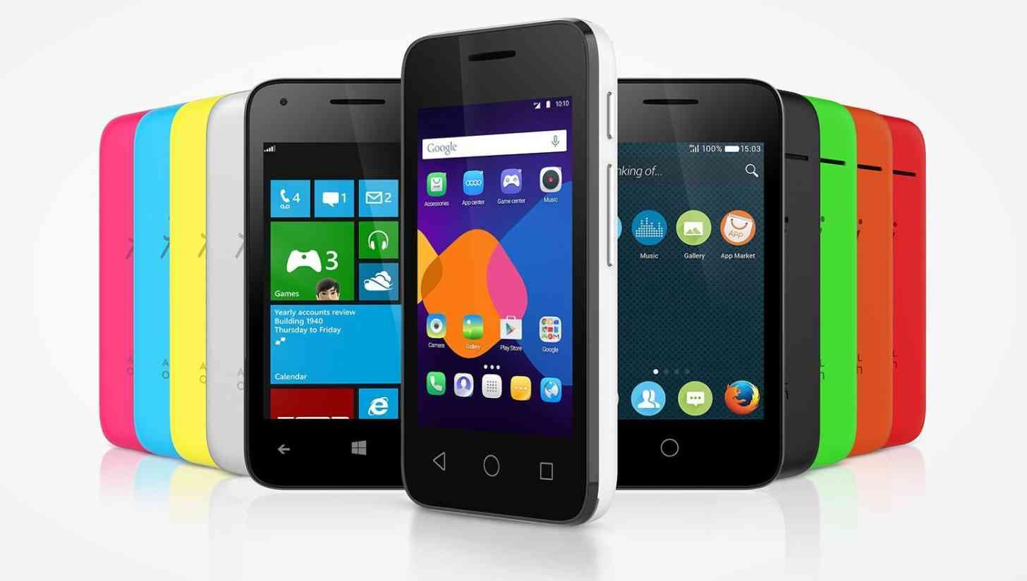 Alcatel Onetouch Pixi 3 smartphones colors
