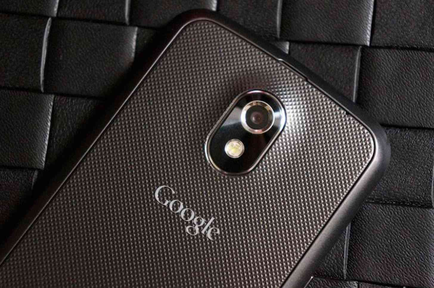 Google logo Samsung Galaxy Nexus rear