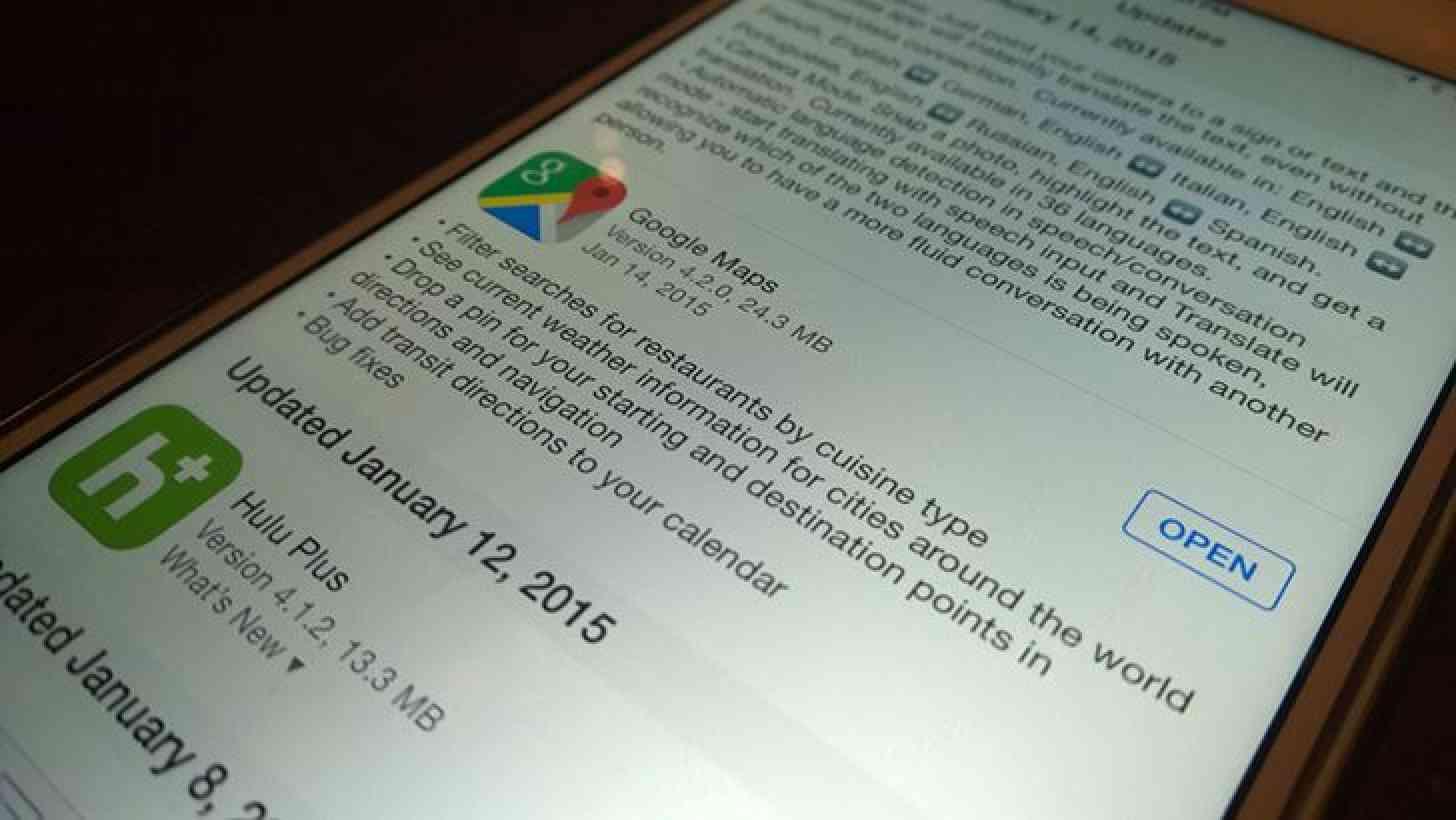 Google Maps iOS app update