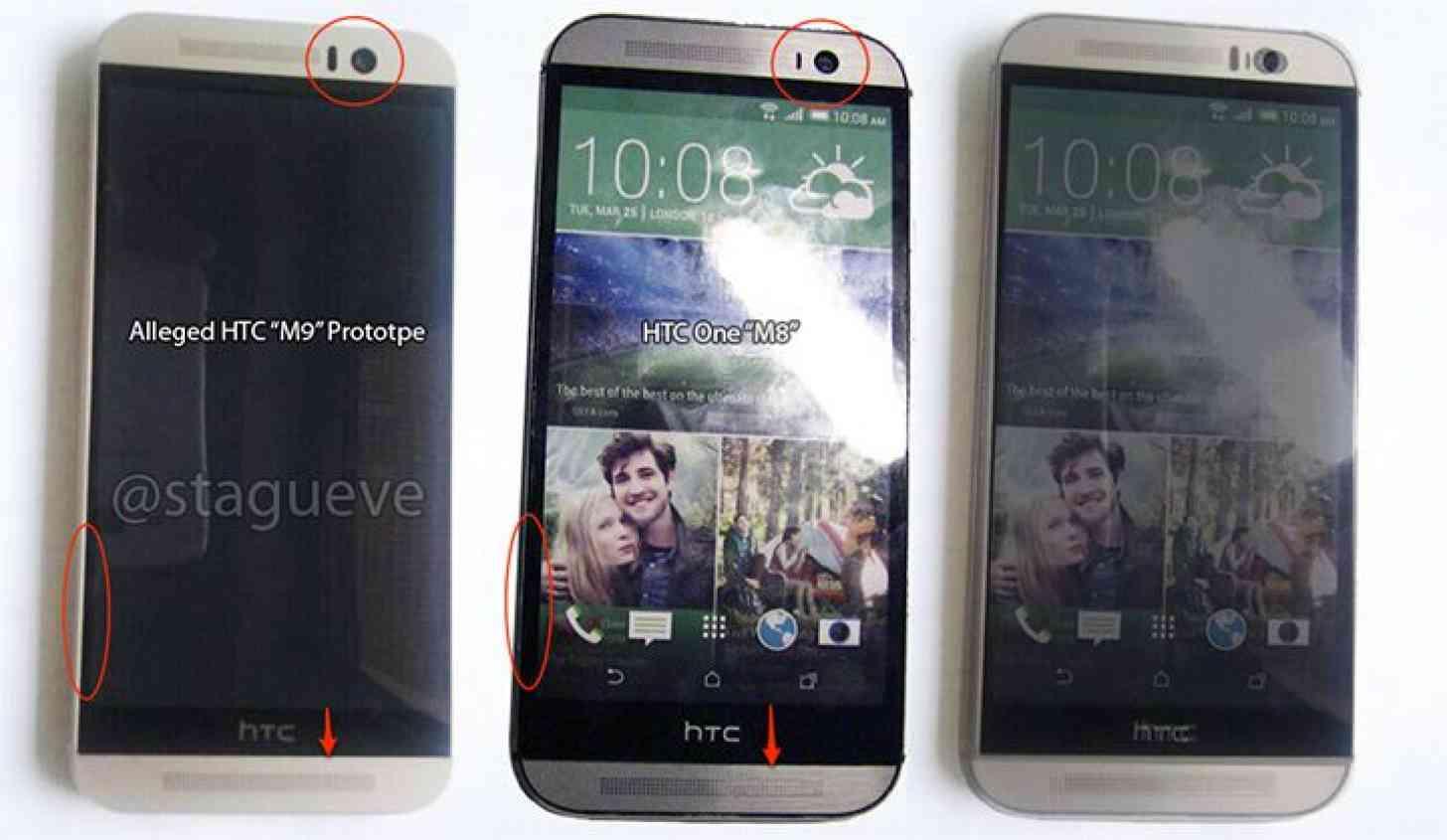 HTC One M9, One M8 comparison