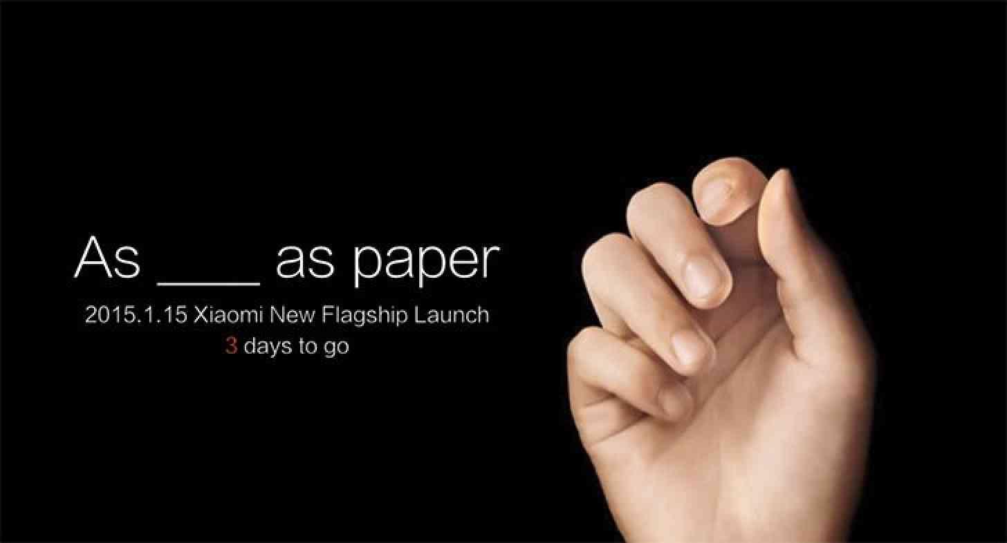 Xiaomi January 15 flagship teaser